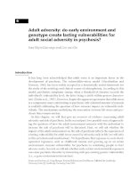 Adult adversity - do early environment and genotype create lasting vulnerabilities for adult social adversity in psychosis