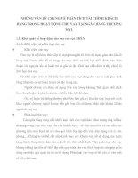 NHỮNG VẤN ĐỀ CHUNG VỀ PHÂN TÍCH TÀI CHÍNH KHÁCH HÀNG TRONG HOẠT ĐỘNG CHO VAY TẠI NGÂN HÀNG THƯƠNG MẠI