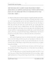MỘT SỐ NHẬN XÉT VÀ KIẾN NGHỊ NHẰM HOÀN THIỆN KIỂM TOÁN CÁC KHOẢN NỢ NGẮN HẠN TRONG KIỂM TOÁN BÁO CÁO TÀI CHÍNH DO CÔNG TY TNHH DELOITTE VIỆT NAM THỰC HIỆN