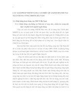 CÁC GIẢI PHÁP NHẰM NÂNG CAO HIỆU QUẢ KINH DOANH TẠI NGÂN HÀNG CÔNG THƯƠNG HÀ NAM