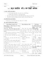 Bài soạn Giáo án Sinh học 6 chuẩn kiến thức