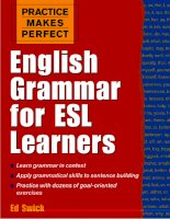 Practice makes perfect english grammar for ESL learners