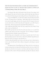 MỘT SỐ GIẢI PHÁP NHẰM NÂNG CAO HIỆU QUẢ KINH DOANH LỮ HÀNH TẠI CÔNG TY ĐẦU TƯ THƯƠNG MẠI VÀ DỊCH VỤ THẮNG LỢI