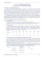 Chuyên đề liên kết hóa học