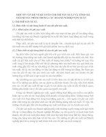 MỘT SỐ VẤN ĐỀ VỀ KẾ TOÁN CHI PHÍ SẢN XUẤT VÀ TÍNH GIÁ THÀNH SẢN PHẨM TRONG CÁC DOANH NGHIỆP SẢN XUẤT