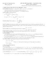 Bài soạn Đề thi thử ĐH số 24(có đáp án)