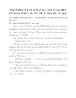 THỰC TRẠNG TỔ CHỨC KẾ TOÁN BÁN HÀNG VÀ XÁC ĐỊNH KẾT QUẢ Ở CÔNG TY VẬT TƯ THIẾT BỊ TOÀN BỘ