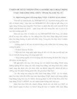 Ý KIẾN ĐỀ XUẤT NHẰM NÂNG CAO HIỆU QUẢ HOẠT ĐỘNG TTQT THEO PHƯƠNG THỨC TÍN DỤNG CHỨNG TỪ