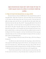 MỘT SỐ ĐÁNH GIÁ NHẬN XÉT  KIẾN NGHỊ VỀ VIỆC TỔ CHỨC HẠCH TOÁN CỦA CÔNG TY CỔ PHẦN THIẾT BỊ ALPHA