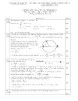 Bài soạn đáp án đề thi HSG vật lý tỉnh Nghệ an