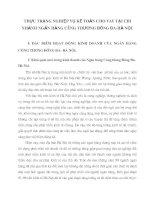 THỰC TRẠNG NGHIỆP VỤ KẾ TOÁN CHO VAY TẠI CHI NHÁNH NGÂN HÀNG CÔNG THƯƠNG ĐỐNG ĐA