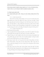 GIẢI PHÁP PHÁT TRIỂN HOẠT ĐỘNG TƯ VẤN CỔ PHẦN HOÁ  CHO CÔNG TY CỔ PHẦN CHỨNG KHOÁN KIM LONG