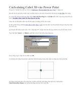 Bài giảng Cách nhúng Cabri 3D vào Power Point