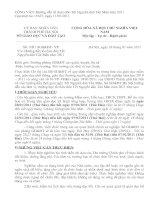 Tài liệu Lịch nghỉ tết Tân Mão