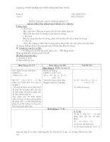 Bài giảng ĐAI SÔ 8 TUẦN 5 ĐẾN TUẦN 7
