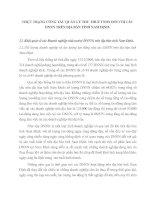 THỰC TRẠNG CÔNG TÁC QUẢN LÝ THU THUẾ TNDN ĐỐI VỚI CÁC DNNN TRÊN ĐỊA BÀN TỈNH NAM ĐỊNH
