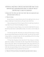 ĐÁNH GIÁ  NHẬN XÉT VÀ ĐỀ XUẤT KẾ TOÁN TIÊU THỤ VÀ XÁC ĐỊNH KẾT QUẢ KINH DOANH Ở CÔNG TY TNHH KỸ THUẬT THƯƠNG MẠI  VÀ DỊCH VỤ KINH BẮC