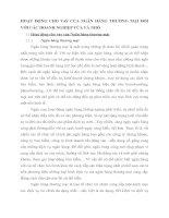 HOẠT ĐỘNG CHO VAY CỦA NGÂN HÀNG THƯƠNG MẠI ĐỐI VỚI CÁC DOANH NGHIỆP VỪA VÀ NHỎ