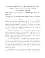 Thực trạng cụng tỏc kế toỏn chi phớ sản xuất và tớnh giỏ thành sản phẩm tại Xí nghiệp chăn nuôi và chế biến thức ăn gia súc An Khánh_Hà Tõy