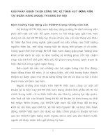 GIẢI PHÁP HOÀN THIỆN CÔNG TÁC KẾ TOÁN HUY ĐỘNG VỐN TẠI NGÂN HÀNG NGOẠI THƯƠNG HÀ NỘI