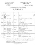 Gián án Lịch kiểm tra 15 phút và 1 tiết HKII THCS (2010 - 2011)