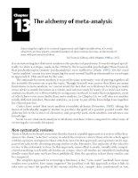 The alchemy of meta-analysis
