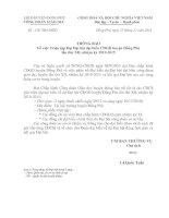 Bài soạn số 138/TB-CĐGD ngày 27/12/2010 về việc thông báo triệu tập đại biểu về dự đại hội