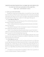 MỘT SỐ GIẢI PHÁP NHẰM NÂNG CAO HIỆU QUẢ HUY ĐỘNG VỐN VÀ CHO VAY VỐN TẠI NGÂN HÀNG CÔNG THƯƠNG