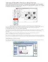 Bài giảng Tính năng nổi bật Office 2010