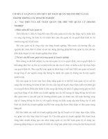 CƠ SỞ LÝ LUẬN CỦA TỔ CHỨC KẾ TOÁN QUẢN TRỊ CHI PHÍ VÀ GIÁ THÀNH TRONG CÁC DOANH NGHIỆP