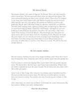 Một số bài viết tiếng Anh trình độ A