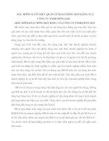 ĐẶC ĐIỂM VÀ TỔ CHỨC QUẢN LÝ HOẠT ĐỘNG BÁN HÀNG CỦA CÔNG TY TNHH ĐÔNG HẢI