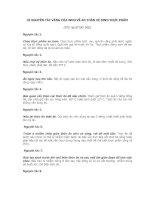Bài soạn 10 NGUYÊN TẮC VÀNG CỦA WHO VỀ AN TOÀN VỆ SINH THỰC PHẨM