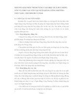 MỘT SỐ GIẢI PHÁP NHẰM NÂNG CAO HIỆU QUẢ HUY ĐỘNG VỐN VÀ CHO VAY VỐN TẠI NGÂN HÀNG CÔNG THƯƠNG VIỆT NAM - CHI NHÁNH CÀ MAU
