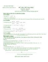 Tài liệu Đề 5- thi thử đại học- Lời giải chi tiết