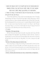 MỘT SỐ NHẬN XÉT VÀ Ý KIẾN ĐỀ XUẤT NHẰM HOÀN THIỆN CÔNG TÁC KẾ TOÁN TIÊU THỤ VÀ XÁC ĐỊNH KẾT QUẢ TIÊU THỤ TẠI CÔNG TY VIEXXIM