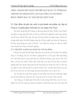 THỰC TRẠNG KẾ TOÁN CHI PHÍ SẢN XUẤT VÀ TÍNH GIÁ THÀNH SẢN PHẨM XÂY LẮP TẠI CÔNG TY CỔ PHẦN PHÁT TRIỂN ĐẦU TƯ XÂY DỰNG VIỆT NAM