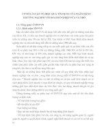 CƠ SỞ LÍ LUẬN VỀ HIỆU QUẢ TÍN DỤNG CỦA NGÂN HÀNG THƯƠNG MẠI ĐỐI VỚI DOANH NGHIỆP VỪA VÀ NHỎ