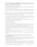 NHẬN XÉT VÀ ĐÁNH GIÁ DIỄN BIẾN CHẤT LƯỢNG NƯỚC SÔNG QUA KẾT QUẢ CỦA BỐN ĐỢT QUAN TRẮC