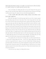 MỘT SỐ GIẢI PHÁP NÂNG CAO HIỆU QUẢ SỬ DỤNG VỐN Ở CÔNG TY CHIẾU SÁNG VÀ THIẾT BỊ ĐÔ THỊ HÀ NỘI