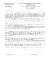 Bài giảng Đề thi HSG Tỉnh An Nghệ môn Hóa 12B