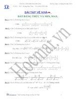(Luyện thi cấp tốc Toán) Chuyên đề bất đẳng thức và min-max_Bài tập và hướng dẫn giải