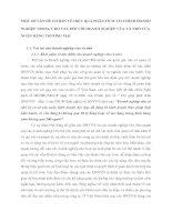 MỘT SỐ VẤN ĐỀ CƠ BẢN VỀ HIỆU QUẢ PHÂN TÍCH TÀI CHÍNH DOANH NGHIỆP TRONG CHO VAY ĐỐI VỚI DOANH NGHIỆP VỪA VÀ NHỎ CỦA NGÂN HÀNG THƯƠNG MẠI