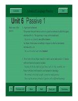 advanced language practice - Passive