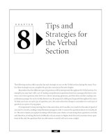 Tips and Strategies for the Verbal Section
