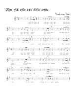 Bài hát em đã cho tôi bầu trời - Trịnh Công Sơn (lời bài hát có nốt)