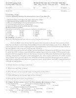 Bài giảng Đề thi - Đáp án HK1-2010 Tiếng Anh 10