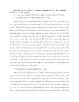 TÍN DỤNG NGÂN HÀNG THƯƠNG MẠI ĐỐI VỚI CÁC DOANH NGHIỆP VỪA VÀ NHỎ
