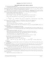 Tài liệu BT TRẮC NGHIỆM CHƯƠNG I X(Giải và ĐA)
