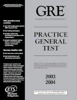Gre Practice General Test 2003